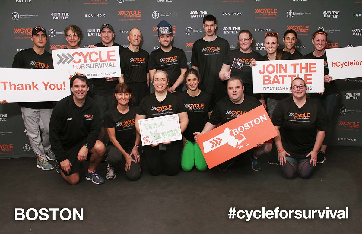 Team Veristat At Cycle for Survival Boston 2019