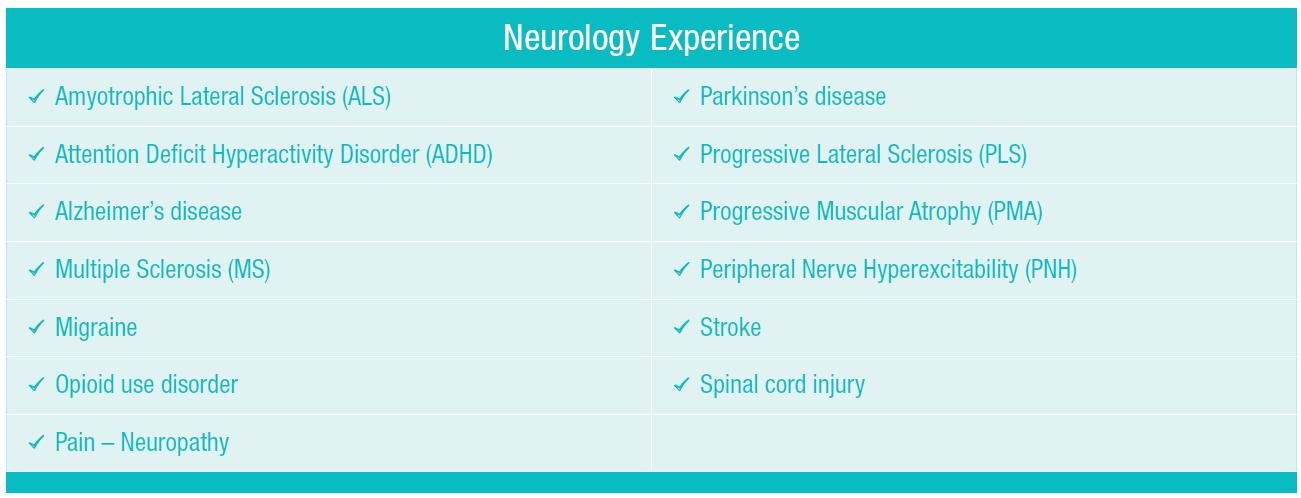 neurology_experience_table