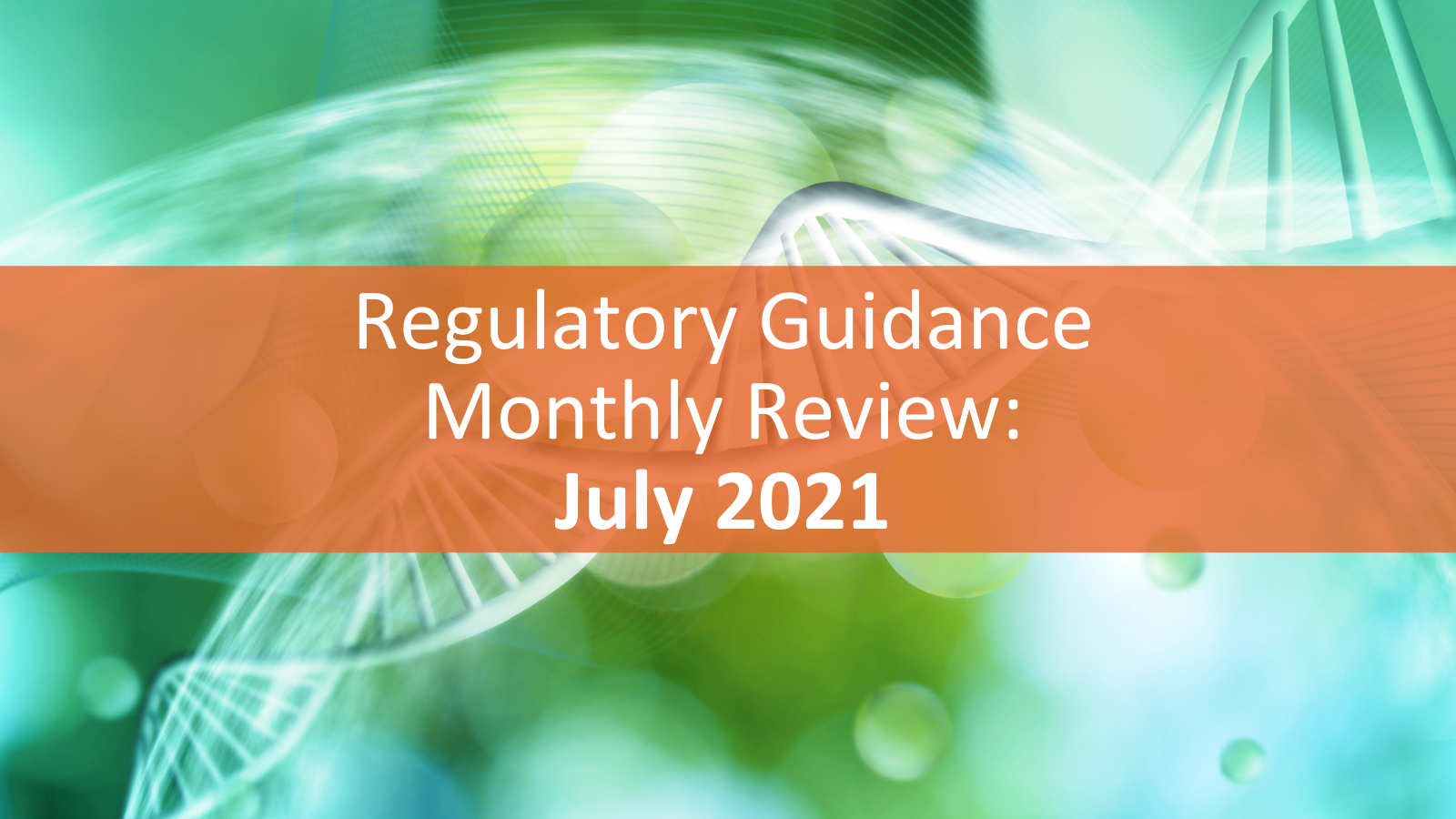 Regulatory Guidance Monthly Review - July 2021